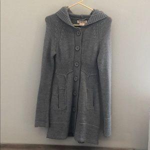 Sweaters - Women's hooded cardigan sweater